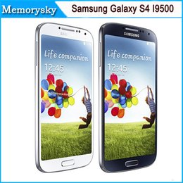 Wholesale Galaxy S4 Smart Phones - Original Samsung Galaxy S4 i9500 unlocked phone 5.0inch 13MP Camera Quad Core 16GB Storage high quality refurbished white black Smart Phone