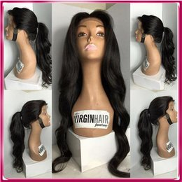 Wholesale Straight Remy Hair Lace Wigs - High End 100% Remy Human Hair Customized Color 100% Raw Black Women Brazilian Hair Full Lace Wig