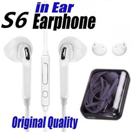 Wholesale Best Microphone Headset - Best Quality Earphones For S7 S6 edge Galaxy Headphone High Quality InEar Headset With Mic Volume Control For Iphone 5 6s With Retail Box