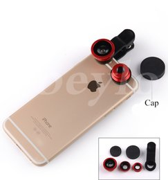 Wholesale Cheap Glass Fish - 3 in 1 Universal Clip Fish Eye Wide Angle Macro Phone Fisheye Lens For iPhone Samsung Cheap Price+ Best Glass Lens Quality