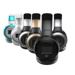 Wholesale Bluetooth Headset Display - ZEALOT B19 LCD Display HiFi Bass Stereo Bluetooth Headphone Wireless Headset With Microphone,FM Radio