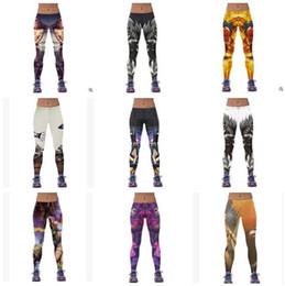 Wholesale Galaxy Style Leggings - Women Leggings 2016 Newest Womens 3d Galaxy Printed Leggings for Women Workout Capri Leggings Yoga Stretch Tights Sport Leggings 1112