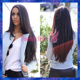 Wholesale Cheap Monofilament - Wholesale Cheap Good Quality Long Straight Virgin Brazilian Human Hair Lace Front Wig Glueless Full Lace Wigs Human Hair Wigs STOCK