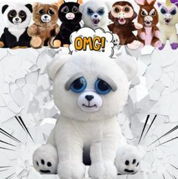Wholesale Dolls Plush Monkey Toy - 11 Styles 20cm New Feisty Pets Funny Toys Cartoon Monkey Dog Animal Plush Stuffed Doll Toys For Children Adult Xmas Gift CCA8186 30pcs