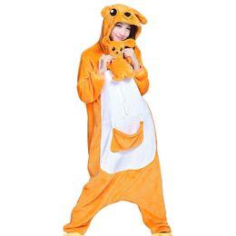 Wholesale Kangaroo Adult Costume - Unisex Adult Pajamas Onesie Kigurumi Cosplay Animal Jumpsuit Kangaroo