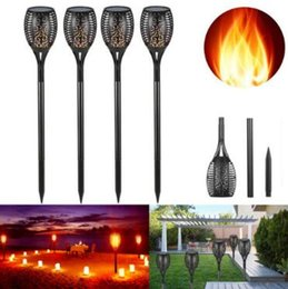 Wholesale Waterproof Solar Led Torch - Solar Flame Lights Outdoor LED Christmas Lights Solar Powered LED Torch Light Flame Flickering Garden Pathway Waterproof Lamp CCA8303 10pcs