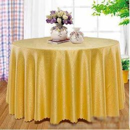 Wholesale Green Table Restaurant - Wholesale Hotel Restaurant Table Cloth Luxurious Palace Style Clouds Jacquard Cloth Solid Round Table Cloth Free Shipping DHL