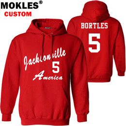 Wholesale Autumn Color Names - BORTLES pullover free custom name number logo autumn winter jersey keep warm Robby pure black FL blue gray red clothes