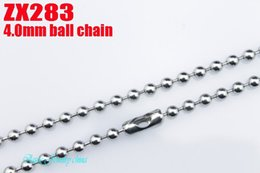 Wholesale 4mm Steel Ball - with Waist buckle 4mm ball chains stainless steel men boy fashion gift bead necklace 16'' 18 20 22' 24 26 28 30 32 34inch 10pcs lot ZX283