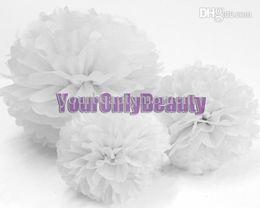 """Wholesale Tissue Paper Flower Favors - Buy 10pcs get 10pcs Free--20 Colors 38cm (15"""") Tissue Paper Pom Poms Wedding Party Decor Flower Balls For Baby Shower Favors Decor"""