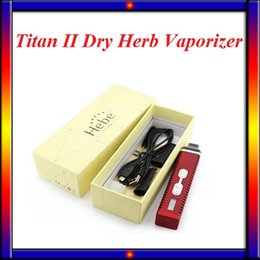 Wholesale Ecigarette Lcd - Titan 2 Kit Vaporizer ecigarette herbal vaporizers Vape kit Hebe Titan II 2200mah Temperature Control Systerm LCD Dispaly VS iStick 30W