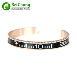 Wholesale Jewelry Channel Letters - BC Free shipping Rose Gold Itilian Speedometer stainless steel watch style bracelet Jewelry BC-011