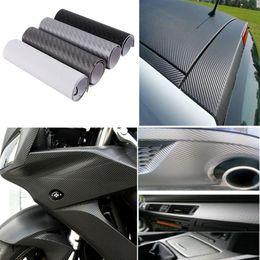 Wholesale Order Vinyl Rolls - 10x20cm 3D Carbon Fiber Vinyl Wrap Film Car Vehicle Sticker Sheet Roll 4x8 inch order<$18no track