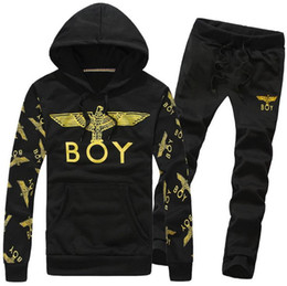 Wholesale London Pants - Wholesale-New 2015 London BOY sweatshirt men women Eagle hip hop casual hoodies brand printed sportswear (Hoodies+Pants) sport suit