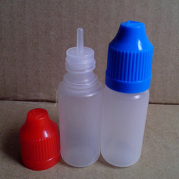 Wholesale Pc Plastic Bottle - Dropper Bottle 10ml Plastic Bottle With Childproof Colorful Caps and Long Thin Tips Empty Dropper Bottles 500 Pcs Lot Factory wholesale