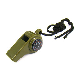Wholesale Compass Whistles - Factory Pirce High Decibel Hurricane Survival Whistle With Compass Thermometer Multifunction 3 In 1 Whistle For Coach Referee