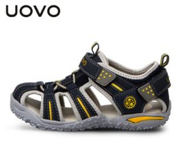 Wholesale Wading Sandals - Wholesale-Uovo 2015 summer new authentic outdoor shoes boys and girls sports shoes wading shoes hollow sandals