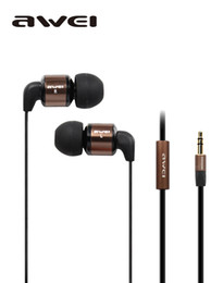 Wholesale Sharp Media - Super clear studio earbuds HIFI In-Ear Earphone Noise Isolating Headset With 3.5mm Audio Jack For Portable Media Player AWEI ES-600M