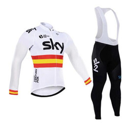 Wholesale Sky Team Long Sleeve Cycling - 2017 sky team cyclisme equipe pro Cycling Clothing Bike clothes Quick Dry Men Bicycle clothes Long sleeves Cycling Jerseys sets