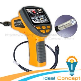 Wholesale Video Inspection Camera Cable - 3.9mm Video Inspection Camera Industrial Borescope Pipe Car 3.5inch TFT LCD Endoscope 2LED Light 1M cable