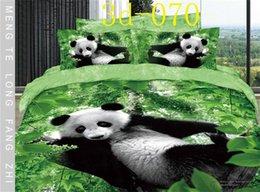 Wholesale Panda Quilt Cover Set - Panda 100%Cotton 3D 4 pcs bedding bedclothes bedding article bed necessaries sheet quilt cover duvet cover pillowcase