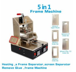 Wholesale Lcd Screen Separator Machine - 5 in1 Universal LCD Screen Separator Glue Remover Frame Laminating Machine Middle Bezel Separator Molds 4 4S 5 5S 5C 6 6plus 2015