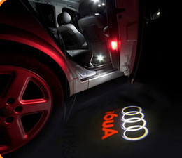Wholesale Audi Ghost Shadow - No damage wireless car door light Ghost Light Welcome Light projector welcome led lamp ghost shadow light for Audi A6L A7 A8L A4 Q3 A5 Q7
