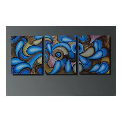 Wholesale Abstract Canvas Art 3pc - 3pc Modern abstract art OIL Paintng on Canvas (NO FRAME) yw5