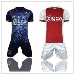 Wholesale Host M - 1718 Holland Ajax football club host and guest football training set Kasper Dolberg and Davy Klaassen men's short sleeve football jerseys