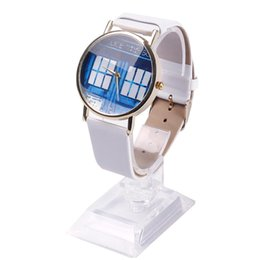 Wholesale Police Watches - Wholesale-Women Men Doctor Who Tardis Watch Police Box Dial Retro Quartz Wristwatch #68007