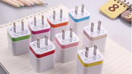 convertidor universal usb móvil Rebajas Enchufe USB de pared USB dual 2.1A Adaptador de corriente alterna Enchufe de pared Enchufe 2 puertos para casi todos los teléfonos y ipad