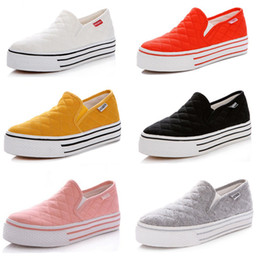 Wholesale Candy Canvas Shoes Women - women brand cheap sports shoes sneakers candy color Low platform flat casual canvas shoes 2015 New fashion female lazy shoes