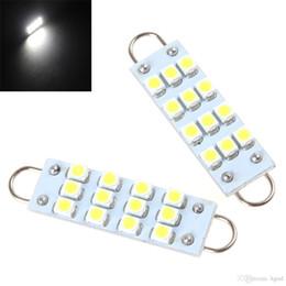 Wholesale 44mm Loop Led - 2PCS 44mm 12-SMD LED Light Bulb Rigid Loop License Plate Lamp Reading Lamp CLT_096