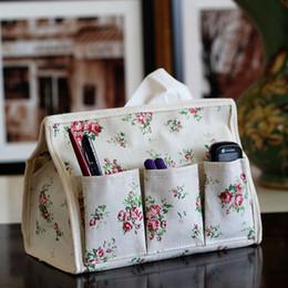 Wholesale Handkerchief Boxes Wholesale - New Pastoral Floral 6 pocket Tissue Box Napkin Cover Paper Holder Handkerchief Case #67765
