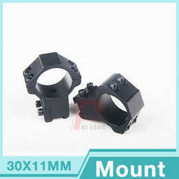 Wholesale Dovetail Weaver Rail - 2 pcs High Profile Scope Mounts 30mm Rings for 11mm Weaver Picatinny Dovetail Rail HT2-0009