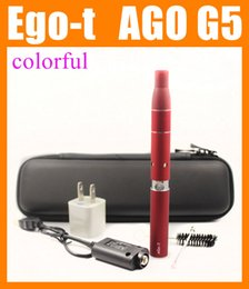 Wholesale Ego Battery G5 - 3 in 1 dry herb herbal wax vaporizer electronic cigarette starter kits with 650 900 1100mAh ego-t evod battery Mt3 M7 ago g5 atomizer CA0003