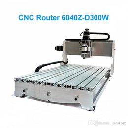Wholesale Wood Engraving Machine Cnc - CNC Wood Router CNC 6040 Z-D300 Mini CNC Engraving Machine With Ball Screw 600*400 Working area For PCB Drilling & Woodworking