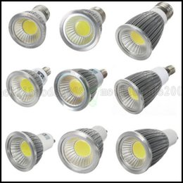 Wholesale Dimmable Led Csa - Dimmable COB Led Bulbs 6W 9W 12W Led Spotlight Lamp 110-240V GU10 E27 E14 GU5.3 MR16 12V Warm Cool White Downlight CE ROHS CSA UL LLWA026