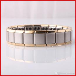 Wholesale Ge Bracelets - Titanium 80 Ge Magnetic power Bracelet bangle gold Energy power bracelet Energy Wristband women men radiation protection jewelry 160809