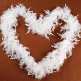 Usa brautkleider online-Feder Boa Marabou Boas Kinder Prinzessin verkleiden sich weißes Schiff aus USA Feder Streifen Hochzeit Dekoration Party Kleid schnelle Lieferung