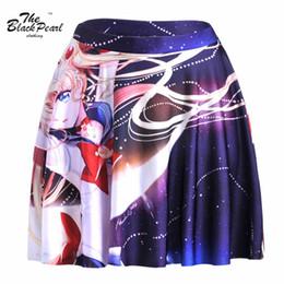 Wholesale Girls Sailor Skirt - Fitness S-L 2015 Sexy Women Elegant Anime Sailor Moon Variety Magic Girl SKIRT - LIMITED 3D Digital Printing Maxi Pleated Skirts FG1510