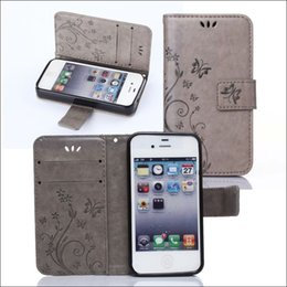 Wholesale I Phone 5g - free shipping new pu leather case for iphone i 5 5G 5S cell phone wallet case