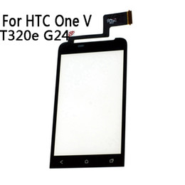 Один касание кабель онлайн-Wholesale-Black Front Glass Window Touch Panel For  One V T320e G24 Touch Screen Digitizer With Sensor Cable Replacement Parts NP279
