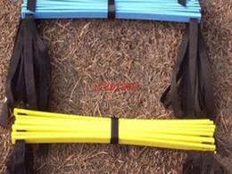 geschwindigkeits-agility-training Rabatt Freies Verschiffen 5M (16.5 Fuß) 9 Sprossen-Fußball-Trainings-Geschwindigkeits-Beweglichkeits-Leiter + Tragetasche Outdoor-Training Fitness-Ausrüstung Leiter