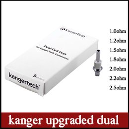 Wholesale Dual Coil Clearomizers - 2015 kanger Upgraded Dual Coils For Kanger Aerotank mega mini protank 3 T3D EVOD 2 glass dual coil atomizers clearomizers