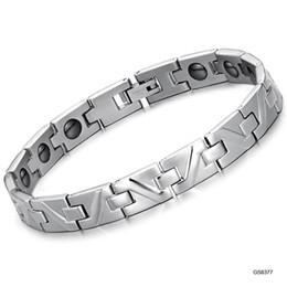 Wholesale Balance Magnetic Bracelet - Hot Fashion Brand Women Jewelry Magnetic Energy Bracelet Power Band Balance Health Bands Titanium Steel Bangles Wedding Christmas Gift