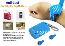 promemoria di sicurezza Sconti Bag Anti-lost Theft Baby Tracker Monitor per bambini Anti perso Pet promemoria Allarme regalo di sicurezza Prevenire il furto del bagaglio per bambini