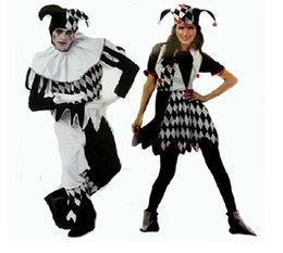 Wholesale Carnival Clown Hat - Wholesale-carnival costumes funny fun cosplay clown costume & hat for adults man women innovative set CO48144155