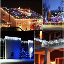 Wholesale White Led Christmas Lights 96 - Wholesale- Hot 3.5 m 96 SMD White Holiday Festival Curtain Wedding Lights LED String Strip ice bar lamp Garlands for PARTY FAIRY CHRISTMAS