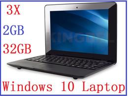 "Wholesale Mini Laptop Windows Cheap - dhl 3pcs New cheap 10 inch Dual core Netbook with HDMI Slot 2GB RAM 32GB Windows system 10"" Mini laptop High Quality laptops"